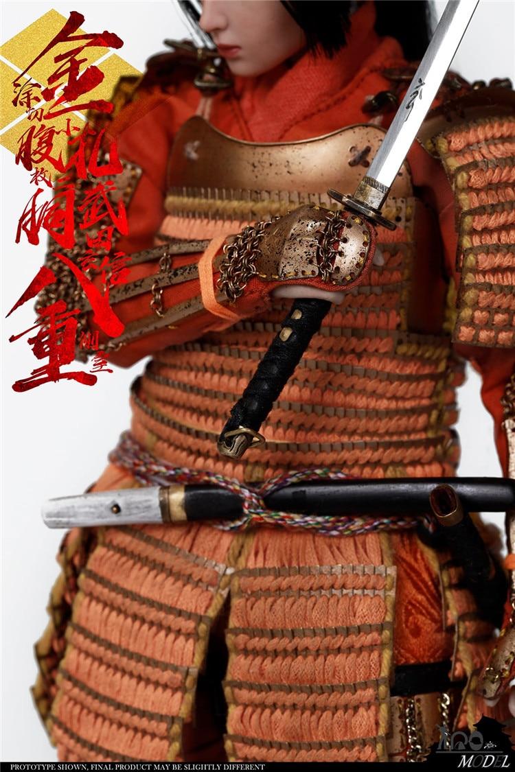 escala takeda shingen armadura de bronze feminino