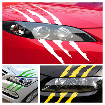 Car Sticker Reflective Monster Scratch for Mercedes Benz S550 S500 IAA G500 ML F125 E550 E350 W205 W201 B200 B150 image