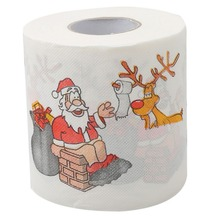 Toilet-Paper-Roll Christmas-Pattern 3-Ply Series Face Printing Practical Santa-Claus