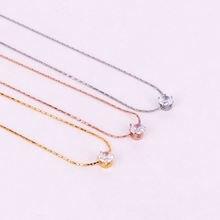 Элегантное блестящее ожерелье чокер с кубическим цирконием Женские