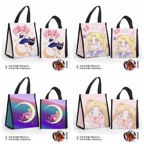 Bolsas de Almoço dos Desenhos Bolsa de Armazenamento Sailor Moon Moda Personalizado Animados Quente Portátil Feminino Meninas Unisex Olm