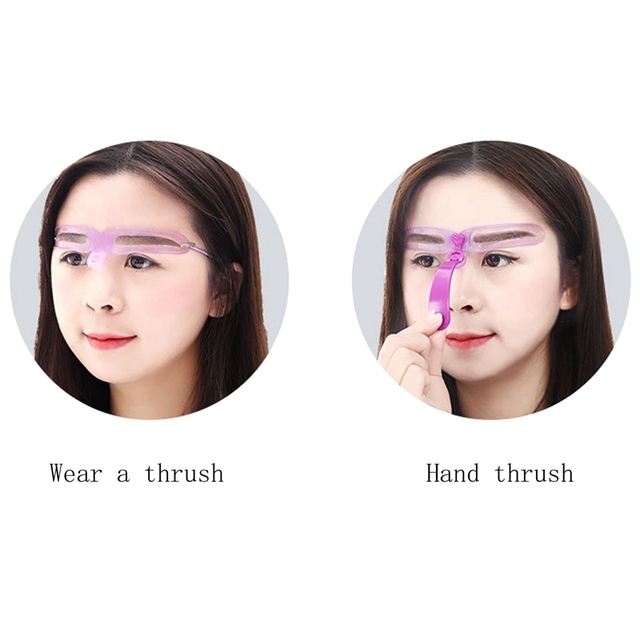 Makeup Reusable Eyebrow Stencil Eyebrow Ruler Cosmetics Eye Brow Mold Styling Shaping Template Card Makeup Beauty Kit 5