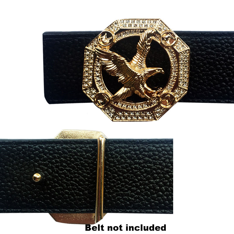Men's Belt Buckles With Eagle Icon Metal Suitable Accessories For 4 Cm Width Belts
