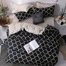 Роскошный комплект постельного белья Super King, пододеяльник, набор из 3 предметов, мраморный, один, ласточка, размер queen, черное одеяло, постельное белье, хлопок, 200x200