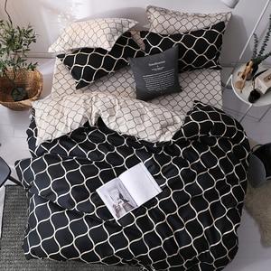 Image 1 - LOVINSUNSHINE Luxuryชุดเครื่องนอนSuper Kingผ้านวมชุดหินอ่อนเดี่ยวQueenขนาดสีดำผ้านวมคลุมเตียงผ้าปูที่นอนผ้าฝ้ายXx14 #
