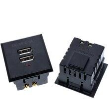 Double prise de courant alternatif USB intégrée double prise de bureau USB prise de courant de charge cc Module de panneau dalimentation 5V 2.1A