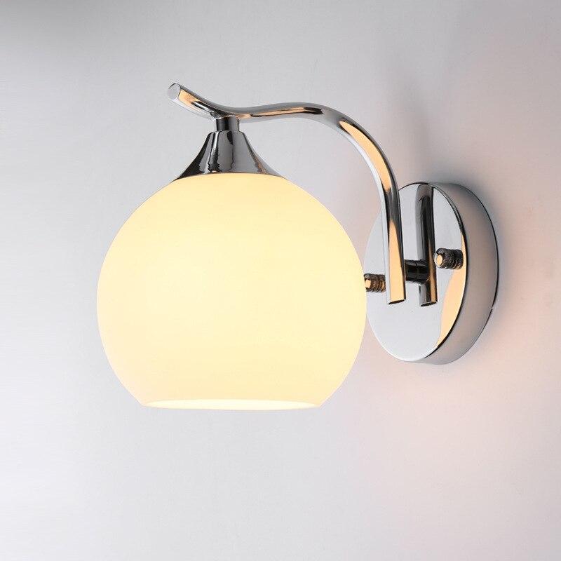 Современная светодиодная купольная настенная лампа, прикроватный светильник для спальни, гостиной, простой креативный стеклянный настенн...