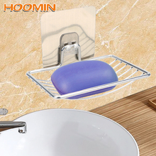 HOOMIN мыльница для хранения в ванной из стали, мыльница из нержавеющей стали, самоклеющаяся настенная стойка для хранения, держатель для домашнего хранения