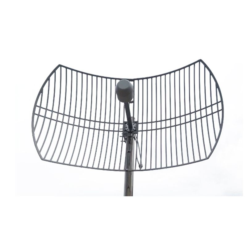 2G 3G 4G LTE Parabolic Grid Antenna 1700-2700MHz Outdoor Antenna 2X24dBi External Antenna With 2x N Female