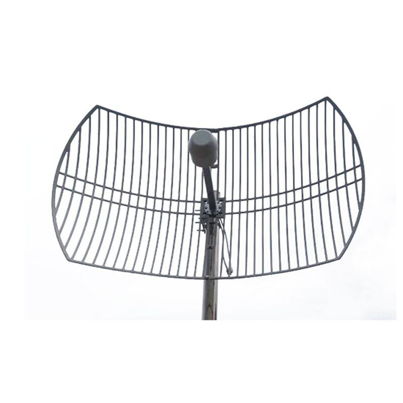 2G 3G 4G LTE Parabolic Grid Antenna 1700-2700MHz Outdoor Antenna 2X24dBi External Antenna With 2x N Female