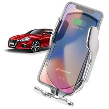 Smart Automatic R1 Infrared Sensor Car Wireless Charger Holder Clamping Mount for iPhone Galaxy Samsung Mobile Phone Bracket
