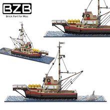 BZB MOC Sea Vehicles Bricks Ship Arctic Icebreaker Building Blocks Fishing Boat Model DIY Toys Adult Children's Birthday Gifts