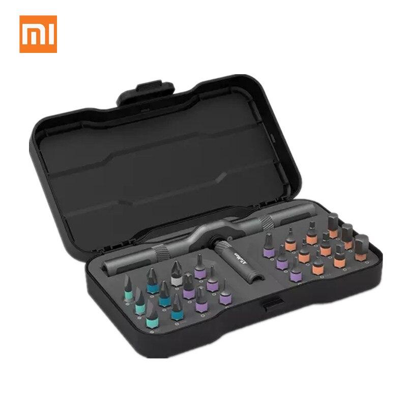 Tüketici Elektroniği'ten Akıllı Uzaktan Kumanda'de Xiaomi mijia ATuMan DUKA 24 in 1 çok amaçlı kilit anahtarı tornavida S2 manyetik bit alet takımı DIY ev tamir aracı title=