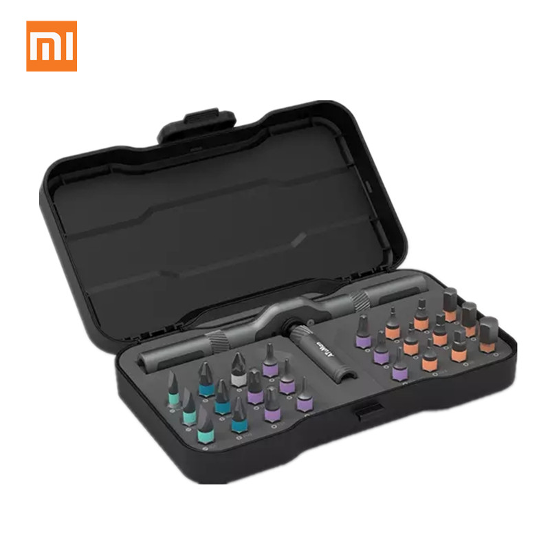 Xiaomi mijia atuman duka 24 in 1 다용도 래칫 렌치 스크루 드라이버 s2 마그네틱 비트 도구 세트 diy 가정용 수리 도구
