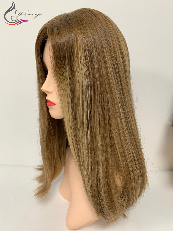 New European Virgin Hair Silk Top Wigs Customized Jewish Kosher Wigs For White Women Sheitels