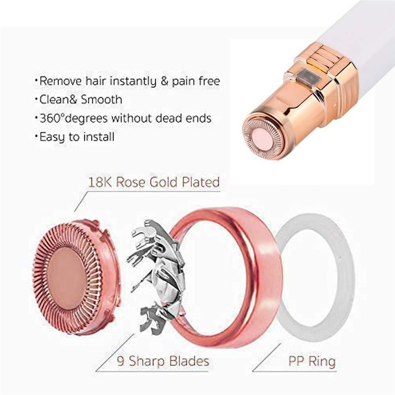 USB Charging Portable Electric Epilator Painless Hair Remover Epilator Eyebrow Trimmer Shaver For Face Lip Cheeks Women