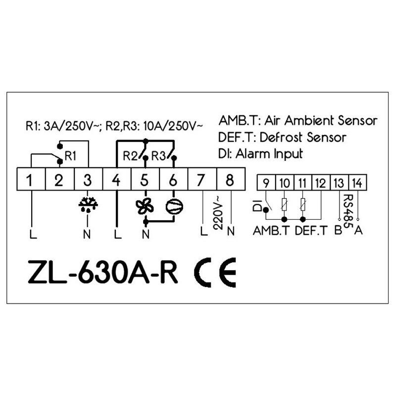 ZL-630A-R, controlador de temperatura rs485, controlador de