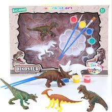 Diy Model dinozaura zabawka dla dzieci biały kolorowy obraz symulowane Puzzle ze zwierzętami zestaw dziecięcy Graffiti malowanie wczesnej edukacji tanie tanio SONGYI Urodzenia ~ 24 Miesięcy 8 ~ 13 Lat 14 lat i więcej 2-4 lat 5-7 lat Zwierzęta i Natura Painted dinosaur model Don t let children eat paint