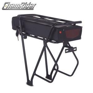 Image 2 - 48V ebike battery case 36V 52V 60V 72V Electric bike battery box 5V USB Double Layer luggage rack 10S10P 13S9P 14S8P 16S7P 20S5P
