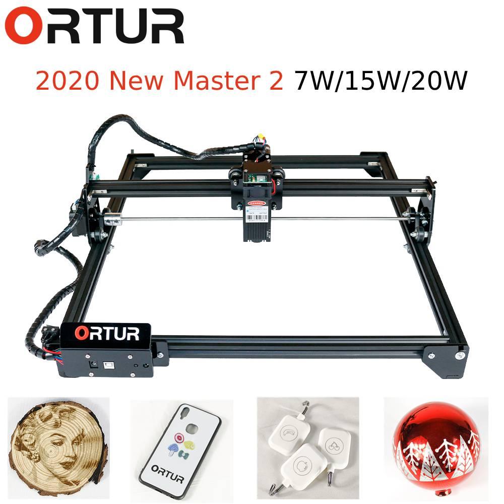 15W Ortur Laser Master2 LaserGRBL LightBurn DIY Laser Engraver Cutter Metal Stone Engraver Woodworking Engraving Machine