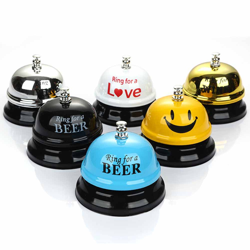 1Pcs Desk Kitchen Hotel Counter Reception 75x60mm Christmas Craft Cat Bell Restaurant Bar Ringer Call Bell Service Ring