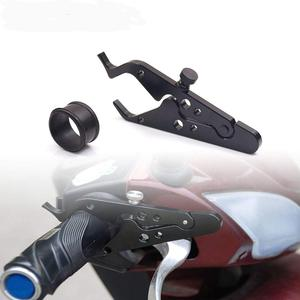 Motorcycle Cruise Control Throttle Lock With Anti-slip Silicone Ring Assist Retainer Grip Aluminum And Rubber Throttle Clamp(China)