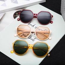 Sunglasses Women Polygon Green Fashion Cat-Eye Retro Black UV400 Ladies Luxury New