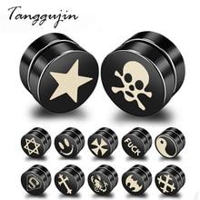 Tanggujin 1PC Magnet Magnetic Health Care Ear Stud Punk Non Piercing Earrings No Hole Gift Mens Women Lovers Jewelry
