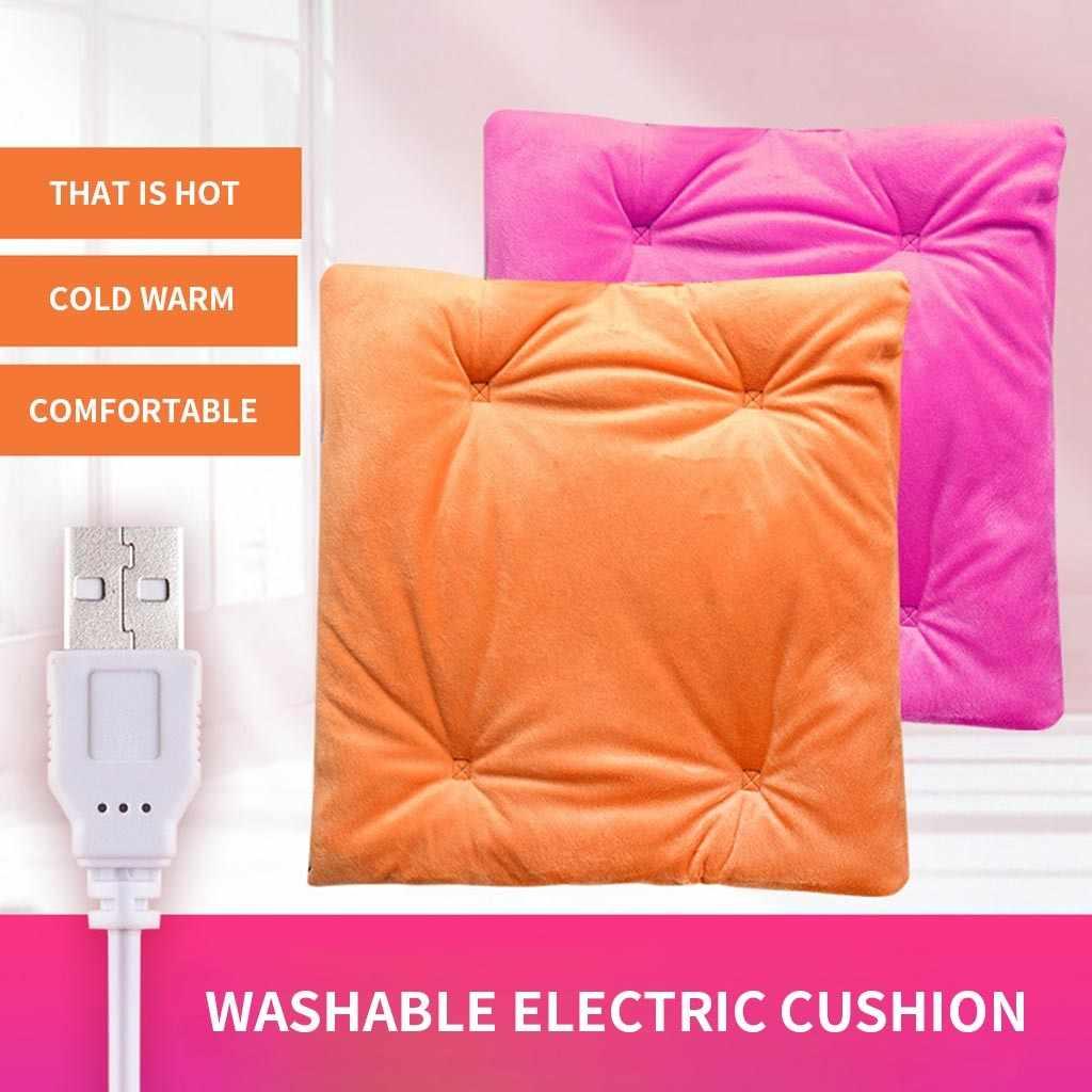 Jesienią i zimą ciepły USB podgrzewany elektrycznie samochód krzesło biurowe poduszka elektryczna podkładka do domu cardriver podgrzewana poduszka na siedzenie 2020