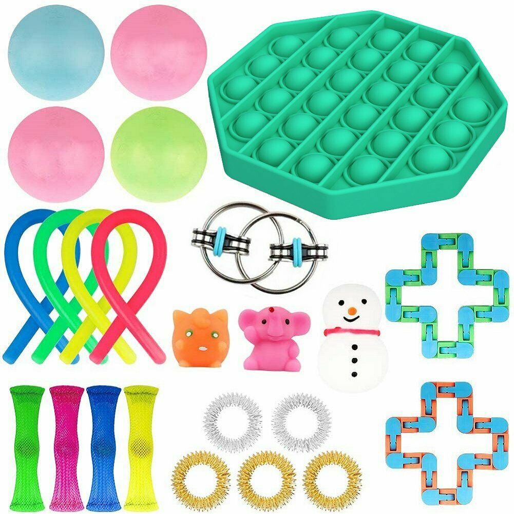 Fidget-Toys Anti-Stress-Toy-Set Mesh Marble Girl Stretchy Strings Relief-Gift Adults img3