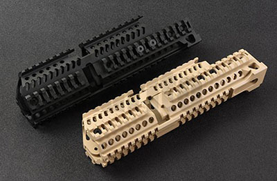 Lightweight cnc aluminum tactical AK 47 105 four sides picatinny rail Handguard system B30 B31 hunting shooting(China)