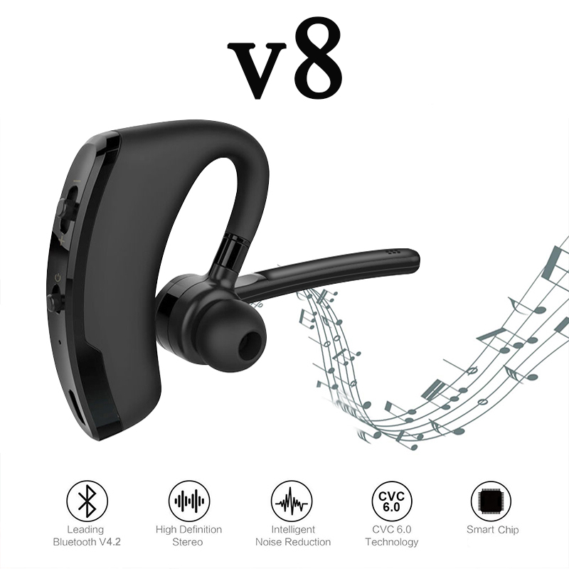2020 New V8 Bluetooth Headset With Microphone The Best Hands Free Headset For Driving Pk I7s V9 I11 I12 I14 Tws Pro Bluetooth Earphones Headphones Aliexpress
