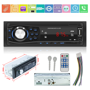 1 DIN Autoradio Car Stereo MP3 Player 12V Car Bluetooth FM Radio Support AUX TF Card USB Flash Drive image