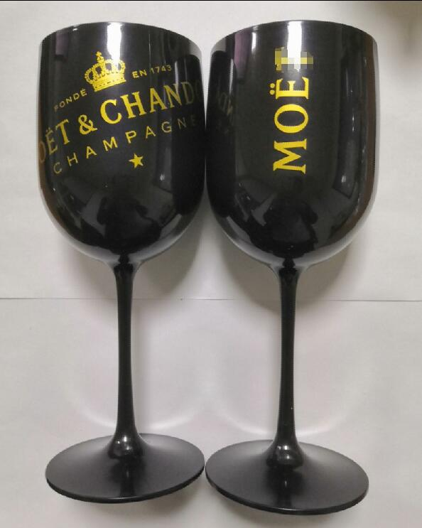 Mysteriou Plastic Acrylic Goblet Moet Champagne Glass Celebration Party Drinkware Moet Wine Glasses One Piece