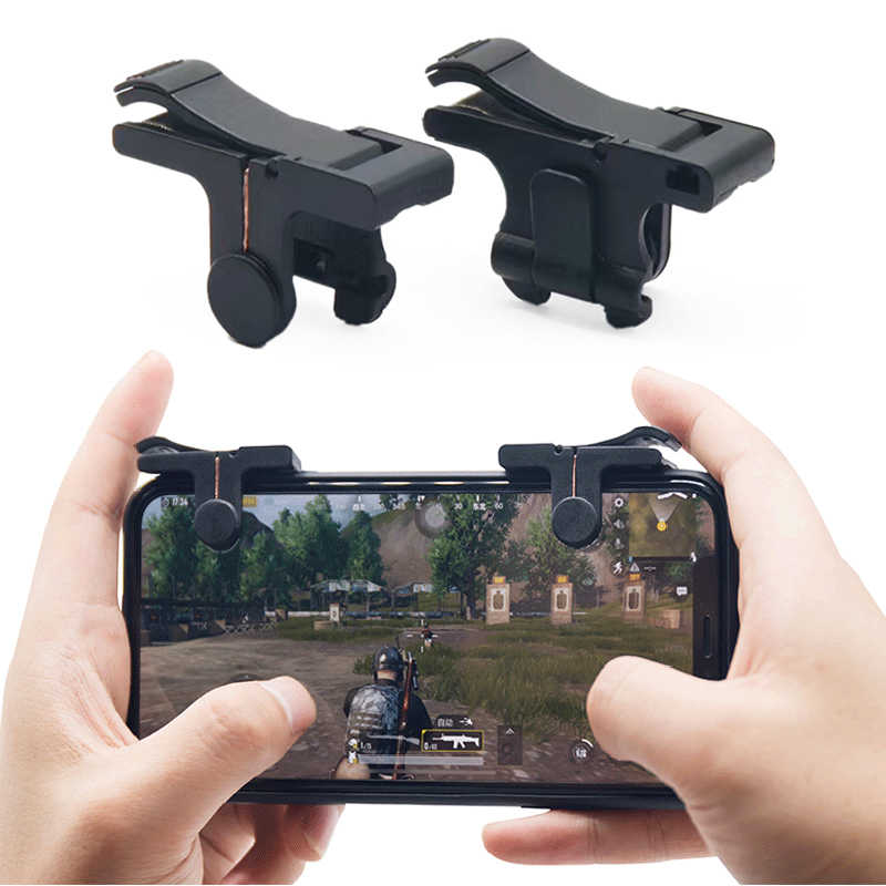 Usee Mobile Trigger Gaming Controller Sensitive Shoot L1R1 Game Triggers Mobile Controller T10S for PUBG Mobile//Knives Out//Rules of Survival 1Pair