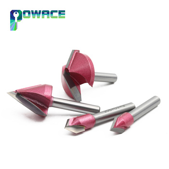 6mm CNC Engraving 3D-V Bits Router 60/90/120/150 Degree  6-32mm V Groove Acrylic Wood chamfer groove 60 soul