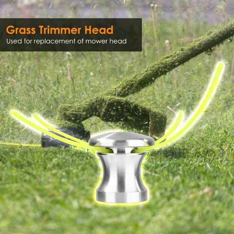 1 piezas de cabeza de recortador Universal de aluminio Strimmer cabeza recortadora cabeza Conjunto de Cuerdas accesorios de cortador de brochas de césped