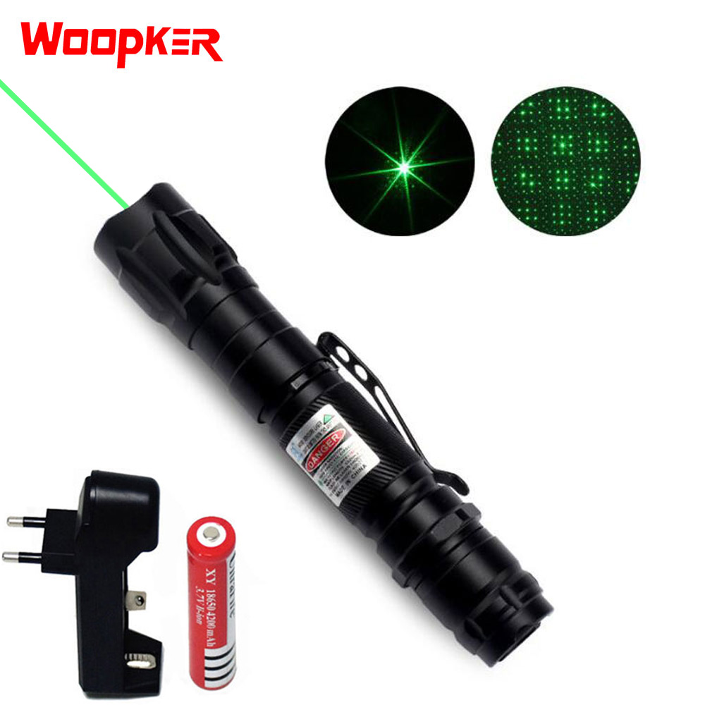 Powerful Laser Pen 1000m 5mW Green Lasers Sight Military Adjustable Focus Lazer with 18650 Battery and Charger