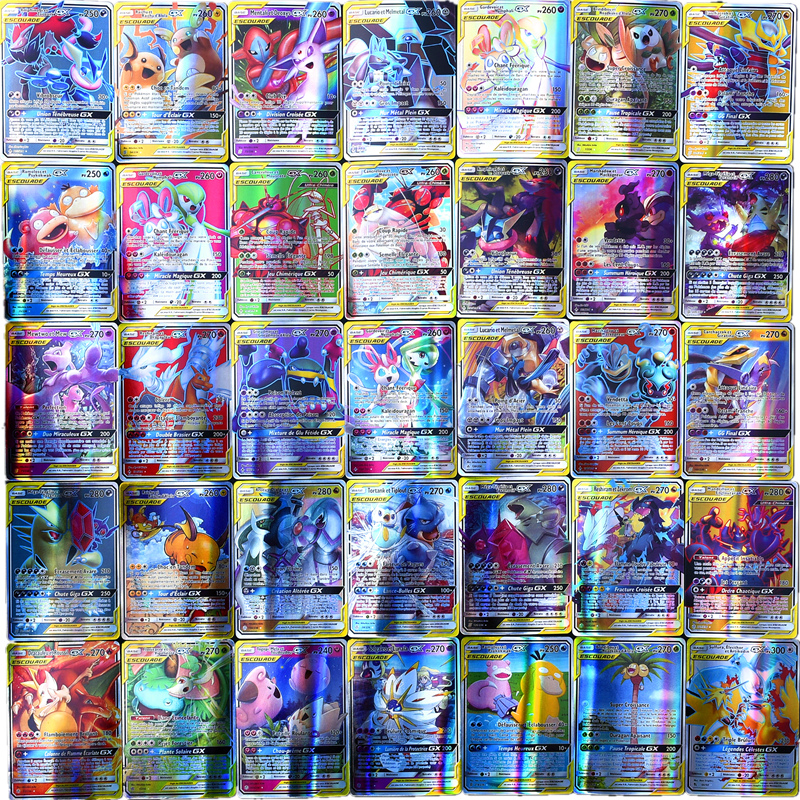 Pokemon Toys Gx Non Repeat Shining English Cards Game Battle Carte Trading Children Francaise Pokemon Card French Toys