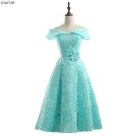 Turquoise Royal Blue Pink Red Green Bridesmaid Dress Tea Length vestidos de dama de honor para boda robe demoiselle d'honneur