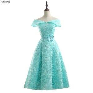 Image 1 - Turquoise Royal Blue Pink Red Green Bridesmaid Dress Tea Length vestidos de dama de honor para boda robe demoiselle dhonneur