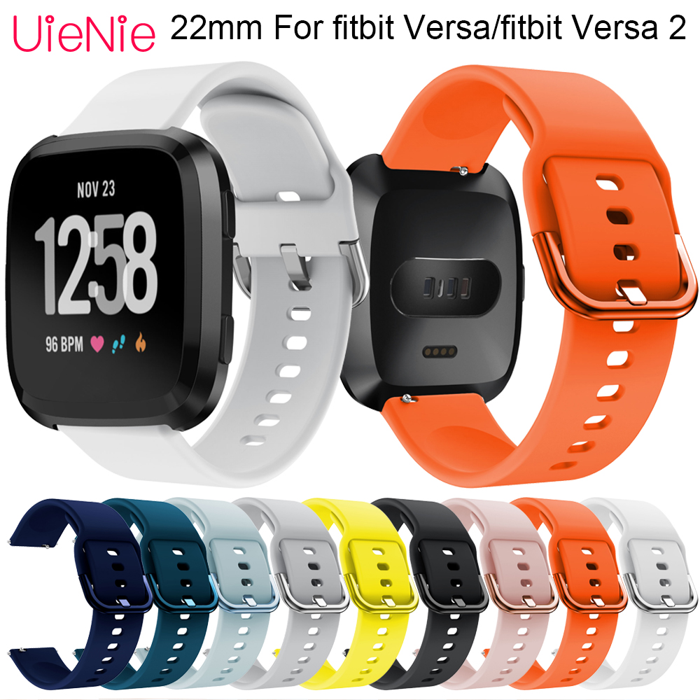 22mm Quick Release Silicone Replacement Band For Fitbit Versa Smart Watch Classic Bracelet For Fitbit Versa 2 Band Accessories