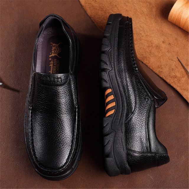 Men's Genuine Leather High Grip Shoes 6
