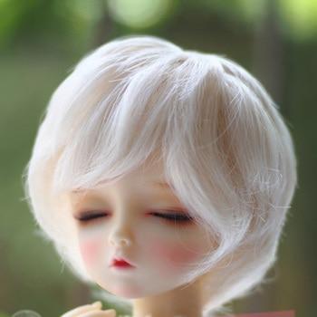 1/3 1/4 1/6 nuevo estilo muñeca BJD SD Peluca de alambre corto marrón de alta temperatura BJD Peluca de pelo súper Dollfile
