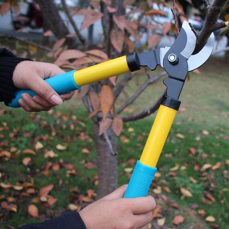 Anti Handle Pruning Lopping Shears Garden Bonsai Tools Ioppers 65Mn Garden Hedge Tree Scissors Cutter Gardening Tool