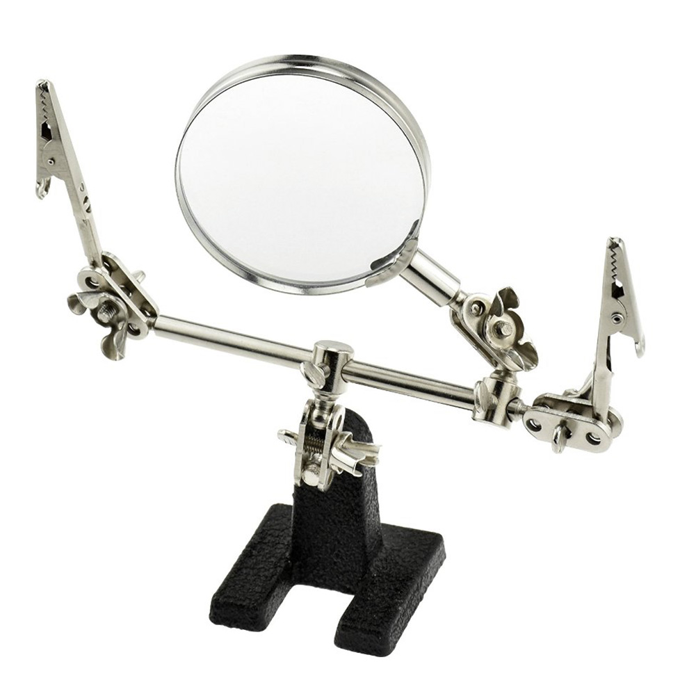 Electrician Tool Workshop Portable Detection Soldering Adjustable Jewelers 5X Stable Magnifier