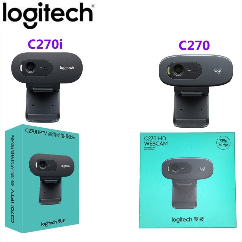 Камера Logitech C270/C270i HD USB веб-камера Удаленная встреча, с микрофоном, нет необходимости устанавливать драйвер ноутбук, Компьютерная камера