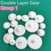 31 kinds of M0.5 Plastic Teeth Double Layer Gears Reduction Gear Group 1 Deck DIY Toy Car Robot Helicopter Parts Dropshipping|Gears| |  -