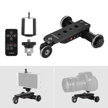 Andoer PPL 06S Pro Lega di Alluminio Motorizzato Video Macchina Fotografica Dolly Track Slider + Supporto Del Telefono per GoPro Eroe 7 Canon Sony DSLR Camera