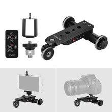 Andoer PPL 06S pro liga de alumínio motorizada câmera vídeo dolly trilha slider + suporte do telefone para gopro hero 7 canon sony dslr câmera